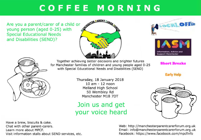 Coffee Morning 18th January 2018