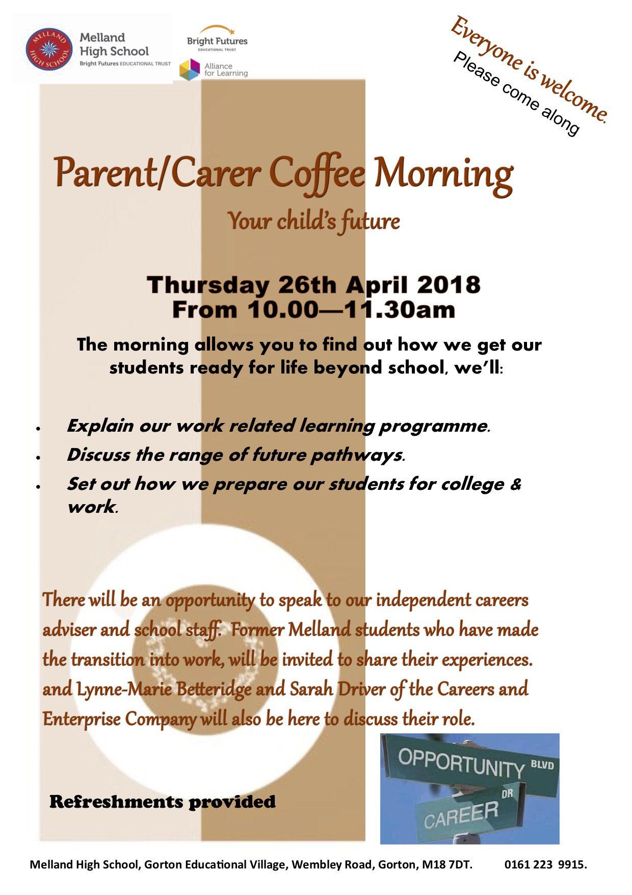 coffee morning flyer thur 26th April